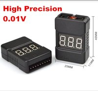 Wholesale precision voltage - High Precision Voltmeter Lipo Li-ion LiFe Battery BX100 0.01v Voltage Tester Checker Low Alarm Buzzer 1S~8S