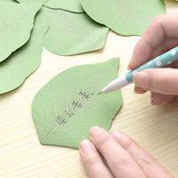 conjunto de papel de nota al por mayor-Nuevo Verde 10 sets Hoja Lindo Memo Pad Sticky Post Note Paper Sticker Almohadillas Papelería Envío gratis Material Escolar Oficina