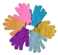 Wholesale Moisturizing Spa Skin Care Cloth Bath Glove Exfoliating Gloves Cloth Scrubber Face Body