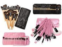 Wholesale Wholesale Professional Beauty Cases - 32 PCS  Set Professional Beauty Makeup Brushes Set Tools Foundation Blush Eye Shadow Powder Make Up Brush Toiletry Kit Case