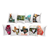 Wholesale Love Hearts Bedding - Love Heart Map Cushion Cover Linen Throw Pillow Cover Cushion Case Sofa Bed Decorative Pillows Case Square 45*45cm Gift New
