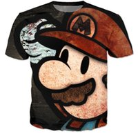 Wholesale Shirt 3d Mario - New Arrive Vintage Super Mario T-Shirts Tees Women Men Cute Cartoon 3D t shirt Funny t shirts Summer Casual tee shirts