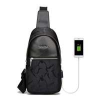 Wholesale Bag Pack For Messenger - 2017 High Quality Men USB Bag Oxford Men's Chest Bag For Men Chest Waist Pack Messenger Fashion Shoulder Men Crossbody Bags