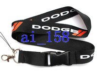 Wholesale new logo keychains resale online - New DODGE car Logo Lanyard MP3 cell phone keychains Neck Strap Lanyard