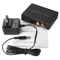 Wholesale Hdmi Rca Audio Splitter - 1080P HDMI to HDMI Optical + SPDIF + RCA L R Extractor Converter Audio Splitter