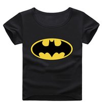 Classic outerwear animal costumes - Black Batman Boys T Shirts Cartoon Fashion Boy Costume Clothes Kids Tops Jersey Outerwear Cotton Children Tees Shirt Hot