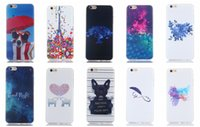 Wholesale Lovely Eiffel - Eiffel Tower Star Cute Lovely Balloon Dog Cartoon Flower Soft TPU Case For Iphone 6 6S Plus SE 5 5S Galaxy S7 Edge A510 J710 J510 J310 Skin