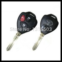 Wholesale Toyota Car Key Shell Price - 20pcs lot for 3button blank transponder remote key shell for Toyota Corolla Rav4 with best price S129 car