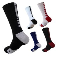 Wholesale Sport Compression Sock Wholesale - Wholesale-2Pair New Elite Basketball Socks Men Long Outdoor CoolMax Sport Socks Male Compression Running Socks Men Football&Soccer Socks