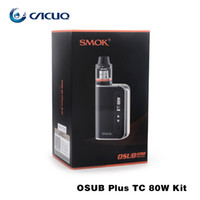 Wholesale Storm Vape - Authentic SMOK oSub Plus 80W TC Starter Kit with Build-in 3300mAh Battery & Cloud Storm Brit Sub Tank 100% ecig vape pen