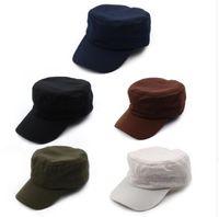 Wholesale Vintage Cadet Hats - 1 X Classic Solid Plain Vintage Army Hat Cadet Patrol Cap Adjustable Baseball Caps Hats 5 Colors For Men and Women