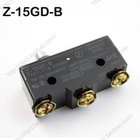 Wholesale Wholesale Micro Switch - New Z-15GD-B Push Button Plunger Micro Limit Switch Brand New High Quality Silver Alloy Contacts Travel switch