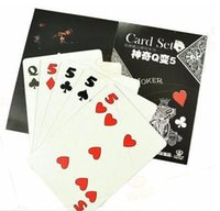 Wholesale Q to card set cards magic tricks magic cards close up magic stage magic fun easy to do