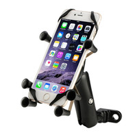 360 Rotation Stand Six Leg X-Grip Car Motorcycle Bike Handlebar Mount Phone Suporte GPS para celular