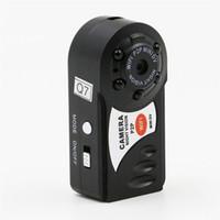 Wholesale Dvr Ip Vision - Mini Q7 Camera DVR Sport Wireless IP Camcorder Video Recorder Camera Infrared Night Vision Camera Motion Detection