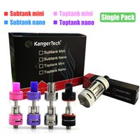 Wholesale Mini Kanger Atomizer - Top Kanger Toptank mini nano Subtank mini V2 nano sub ohm tank Topbox Subox Subvod box mods Vapor OCC SSOCC coils single pack atomizers DHL