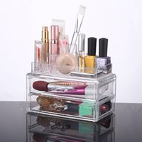 Wholesale Best Jewelry Organizers - 2016 New China Design Jewelry and Cosmetic Storage 2 Piece Acrylic Makeup Organizer YOUR BEST CHOICE