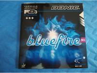 caoutchouc éponge bleu achat en gros de-Donic Blue fire M1 Bluefire Pips-in Éponge blanche laiteuse Caoutchouc De Tennis De Table Forte Spin Picots En Caoutchouc De Ping Pong