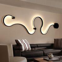 lámpara nórdica al por mayor-La lámpara de acrílico más nueva creativa de la luz LED de la serpiente de acrílico llevó el aplique nórdico de la pared de la correa para la decoración