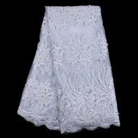 Wholesale French Net Fabric - OT003 Nigerian Lace Fabric High Quality African French Net Lace Fabric With Stones Embroidery Cord Lace Trim For Women