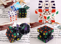 Wholesale 3d Stickers Puzzles - 2017 new style Wholesale 3D Cube Puzzle Magic Cube 3 x 3 x 3 Gears Rotate Puzzle Sticker Adults Child's Educational Toy Cube