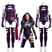 Wholesale Elizabeth Cosplay - New Arrival X-Men Apocalypse Psylocke Elizabeth Braddock Womens Fancy Dress Cosplay Costume Halloween Customized Handmade Jumpsuits