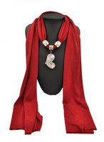 Wholesale Scarf Fashion Beaded Necklaces - New Heart-shaped Jewelry Pendant 2016 Necklace Charms Fashion Scarves Beautiful Beaded Black Scarf Cheap Tassels Pendants Lrather