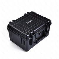 Wholesale Tool Equipment Cases - Waterproof Case with foam Equipment Carrying Case Black Orange ABS Plastic sealed safety portable tool box free shipping