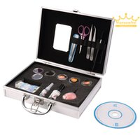 Wholesale Salon Makeup Box - Professional False Extension Eyelash Glue Brush Kit with Case Box Salon eyelash extensions Tool makeup maquiagem