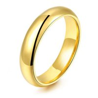 6MM (10Pcs / Lots) Preço de atacado 18K Gold Plating Tungsten Carbide Ring Wedding Ring Free Shipping Mix Size 4-15