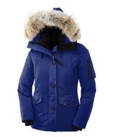 Wholesale Hats Short Hair - Canada down jacket women's short, hooded big hair collar thickening warm outdoor sports equipment coat