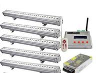 iluminação exterior led rgb dmx venda por atacado-Synchronous DMX RGB LED Wall Washer Luz 24W para decoração de iluminação exterior Exterior da paisagem Lâmpada + Controlador DMX512 + fonte de alimentação