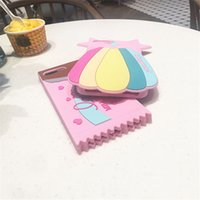 Wholesale Mobile Phone Chocolate - New Summer Case Colorful Rainbow Chocolate Soft Silicone Gel Mobile Phone case For iphone 8 i7 7 plus 6 6S 6G 6 Plus
