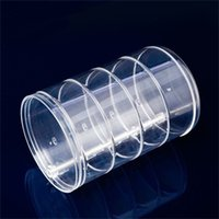 Wholesale Transparent Dress Piece - Transparent Jewelry Storage Box For Multipurpose Cylindrical 4 Layer Rotate Plastic Dressing Case Lady Supplies 17xx C R