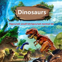 Wholesale 3D paper dinosaur DIY puzzle jigsaw puzzle toys for kids