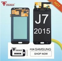 Wholesale Lcd Tft Capacitive - 100% Tested TFT LCD Can Adjust Brightness for Samsung Galaxy J7 2015 J700 J700F J700H J700M LCD Display Touch Screen Digitizer Assembly