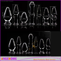 anker stecken großhandel-7 Größe Erwachsene Spiele Kristallglas Analplug Dildos Schub Anker Arsch Hintern Vagina Stopper Glas Sexspielzeug Produkte Neue Sexy Spielen
