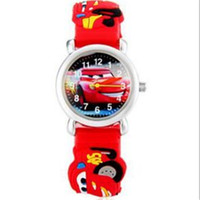 Wholesale Anime Cars - 2017 New Kids Boys Girls 3D Quartz Cartoon Car Watches McQueen Gift Fashion Anime Wristwatches Accessories