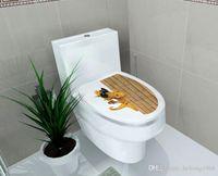 ingrosso adesivi da bagno-Toilet Sticker Water Proof 3D Personalizzato Adesivo Nice Pattern Bagno Home Decor Molti Style Select Hot 2fx F R