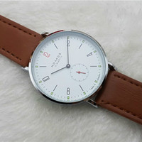 Wholesale new brand dresses - 2016 New Brand NOMOS Quartz Watch lovers Watches Women Men Dress Watches Leather Dress Wristwatches Fashion Casual Watches