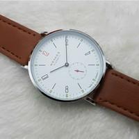 часы брендинг оптовых-2016 новый бренд NOMOS кварцевые часы любители часы женщины мужчины платье часы кожа платье наручные часы мода повседневная часы