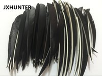"Wholesale feather arrow fletching - 60 pk Archery Hunting Right Wing 5"" turkey Feather drop Shape Arrow Fletching For Hunting Carbon Arrows"