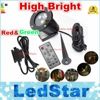 Wholesale Control Insert - High Bright Laser light waterproof outdoor lawn Starry Christmas red and green dynamic remote control insert the courtyard garden landscape