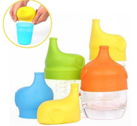 Wholesale Nipple Cupping - 2017 new Silicone Sippy lid Nipple lids for any size Kids mug & Toddlers Leakage Cup for Infants and Toddlers BPA Free