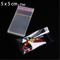 """Wholesale Plastic Packaging Bag Resealable - 200pcs 2"""" x 2"""" SMALL GIFT PACKAGING BAG CLEAR RESEALABLE PLASTIC BAGS for JEWELRY RING PACKAGE MINI POUCHES 5 x 5cm"""