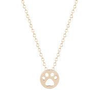 Wholesale Red Paw Print - 10pcs lot Hot Creative Dog Paw Print Dye Cut Coin Shaped Animal Necklace Best Pendant Minimalist Jewelry Gift for Girls and Women