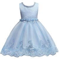 Wholesale pink lace shorts for girls for sale - Group buy 2018 New Cute White Pink Little Kids Infants Flower Girl Dresses Princess Jewel Neck Short Formal Wears for Weddings First Communion MC0817