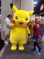 Wholesale yellow star costume - Hot sale! Pikachu Mascot Costume Fancy Dress Outfit Pikachu Mascot Costumes