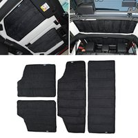 Wholesale Heat Roof - Black Auto Interior Accessories Roof Heat Insulated Cotton For 2 Doors &4 Door Fit For Jeep Wrangler 2012-2016