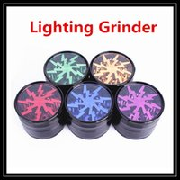 Wholesale Aluminium Cnc Parts - Newest Lighting Grinder 4 CNC Parts 63mm Aluminium Alloy Crusher Smoking Grinders Clear Top Window 4 Pieces Herbal Grinder Wholesale